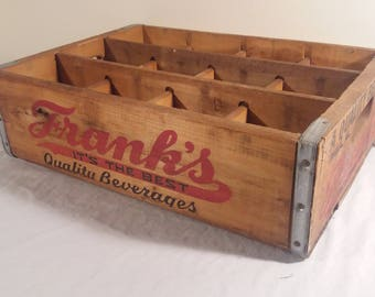 1970s Franks Quality Beverage Soda Crate