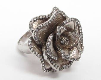 Unique 925 Sterling Silver Vintage Antique Topaz Cluster Ring - B093  (!!!OFFERS ACCEPTED!!!)