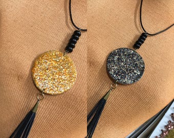 Handcrafted Total Eclipse Reversible Pendant TP.107