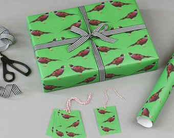 Christmas Wrapping Paper - Pheasants