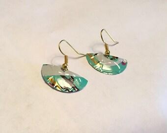 Upcycled Embossed Aluminum Earrings