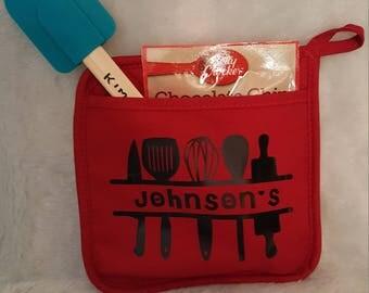 Potholder cookie and spatula set