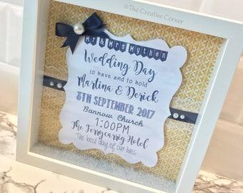 Wedding details frame
