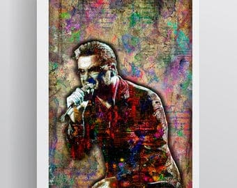 George Michael Poster, George Michael 1963-2016 Memorial Artwork, George Michael Tribute Poster, George Michael Print for Fans