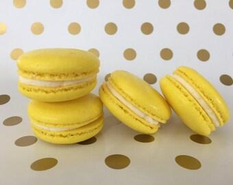 Lemon Buttercream Macarons
