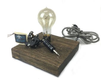 Tattoo Machine Touch Activated Lamp