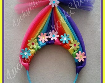 Rainbow Troll Headband Inspired by Lady Glitter Sparkles