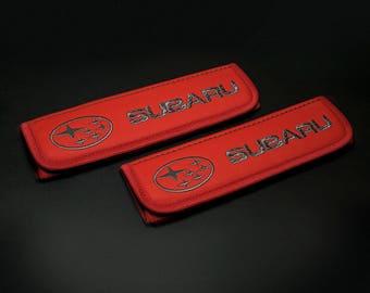 Subaru accessories 2 pcs. Car Seat Belt Shoulder. Car Seat Strap Covers, Strap Covers, Reversible Strap Covers. Accessory for Subaru