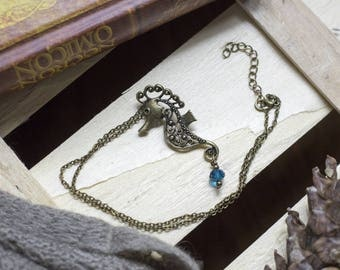 "cute necklace ""Seahorse magic"" magic - fairy - sea - Mermaid - Princess - Bohemian - romantic - kawaii - seahorse - animal"