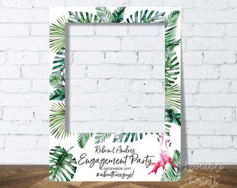 Personalised Photo Booth Frame | Tropical Party Prop | Wedding Sign | Engagement Party Sign | Birthday Party Sign | Instagram Frame