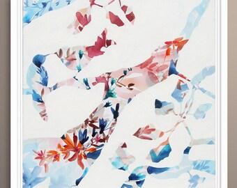 Birds Tree Painting, Print of Painting, Giclee, Fine Art Print on Canvas, Fine Art on Canvas