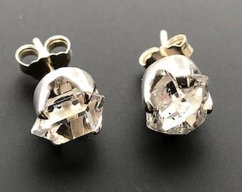 Stunning Herkimer Diamond 925 Sterling Silver Stud Earrings ~ AAA Grade ~ 3gm