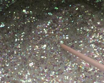 Snow drops loose glitter iridescent mix