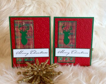 christmas cards handmade etsy
