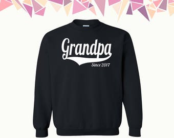Grandpa Since Crewneck Sweatshirt Customize Your Year Grandpa Since Sweater Grandpa Since Crewneck Sweatshirt Sweater Crewneck Sweatshirt