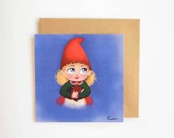 Postcard little Christmas Elf