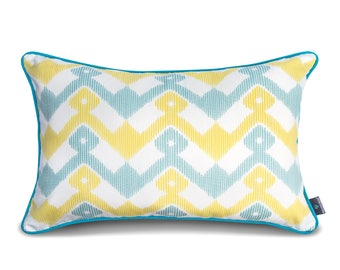 We Love Beds Geometry Blue Pillow Case