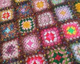 Crochet Afgan: The GrammyGan Glam - Crochet Blanket Handmade