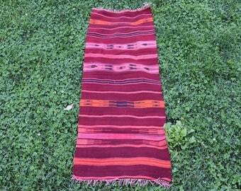 Free Shipping Vegetable Dyed Kilim Rug 1.8 x 5.4 feet Natural Wool Cintage Kilim Rug Aztec Rug Tribal Rug Boho Rug Bohemian Rug Code378