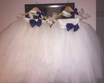 Flower girl tutu, ivory tutu, tutu skirt, Christmas wedding tutu, tulle skirt,  bridesmaid tutu, floor length tutu, ballet tutu, grey tutu