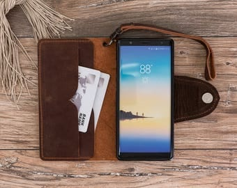 Leather wallet case for Note 8, Leather case for Note 8, Note 8 Case, Note 8 Leather Case, Note 8 Wallet Case, Note 8, Note8 Brown Case#PİRA
