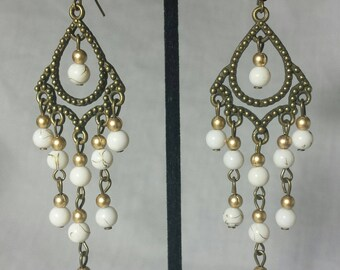 Retro Brass Chandelier Earrings