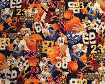 53 inches of Basketball players cotton fabric