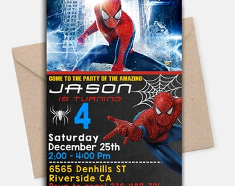 Spiderman Invitation/ Spiderman Birthday Invitation/ Spiderman Birthday/ Spiderman Birthday  Party/ Spiderman Invites/ Spiderman Printable