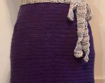 Purple and gray thread dress