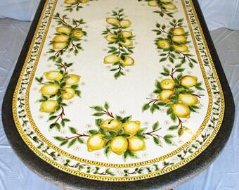 "Sicilian Lava Stone Oval Table ""Messina"" + Table stand ""Nabucco"""
