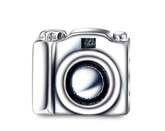 Sterling Silver Camera Charm - Photographer Charm - Photography Charm - Cameras Charm - Love Photography Charm -Fits All Charm Bracelets