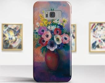 "Odilon Redon, ""Vase with Anemones"".Samsung Galaxy S8 Plus Case LG V30 case Google Pixel Case Galaxy A5 2017 Case. Art phone cases."