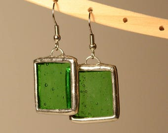 Stained glass tiffany earrings