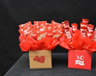 Kit Kat or Malteser Choc Hearts Bouquet