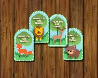 Safari Gift Tags, Safari Jungle Thank You Tags, Party Favors, Favor Tags Safari Jungle, Safari Jungle Tags, Safari Jungle Party   JU_FULL