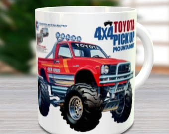 Mountaineer Coffee Mug with optional Keychain, Vintage mug, gift for hobby lover, RC Model Coffee Mug, Gift for Him, Radio Controlled Car