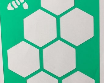 Large Honeycomb Stencil A5 or B6 **Introductory Price!!**