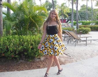 Custom Made Designer Cotton Circle Skirt