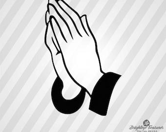 Praying Hands - Dxf Svg Ai Pdf Eps Rld RdWorks Png Jpg and Wmf Print Files, Digital Cut, Vector File, Svg File, Cricut Svg, Silhouette