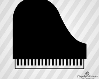 Piano Icon - Dxf Svg Ai Pdf Eps Rld RdWorks Png Jpg and Wmf Print Files, Digital Cut, Vector File, Svg File, Cricut Svg, Silhouette