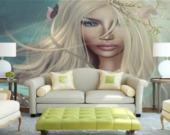 3D graphics wallpaper || Peel & stick || self adhesive and removable || Reusable || High Quality materials || DIY
