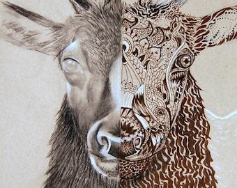 Art Print - Divided Elk