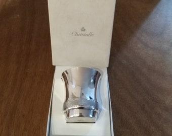 Birth Christofle silver plated al. Gallia Guy French Cup