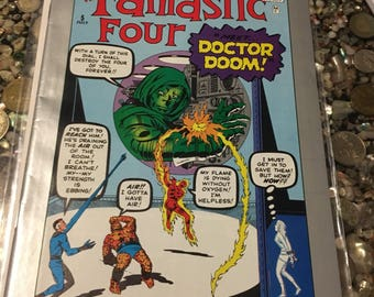 Marvel Milestone Fantastic Four #5, 1st Appearance of Dr. Doom, Kirby! VF- 7.5
