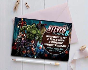 Avengers,Avengers Birthday Invitation,Avengers Birthday,Avengers Invitation,Avengers Party,Avengers Birthday Party,Superhero Invitation