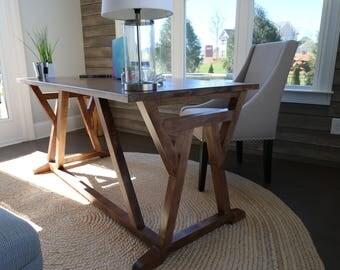 Handmade Maple Farmhouse Desk