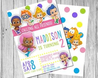 Bubble Guppies Invitation (Digital)