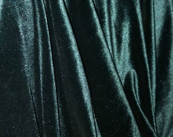 Emerald Green Velvet Fabric,  Dark Green Velvet Fabric By The Yard