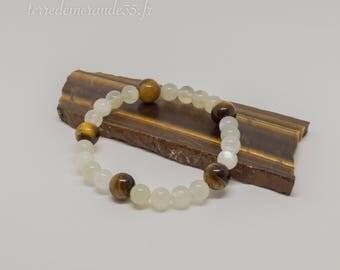 Moonstone bracelet / Tiger eye