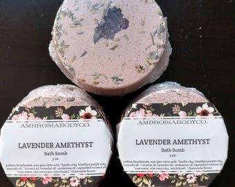 Lavender Amethyst Bath Bomb